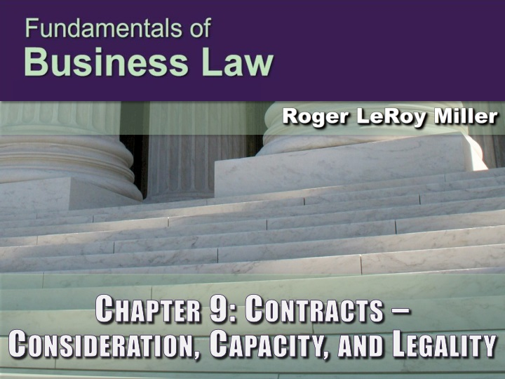 chapter 9 contracts consideration capacity and legality n.
