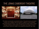 the jonas zaborsky theatre