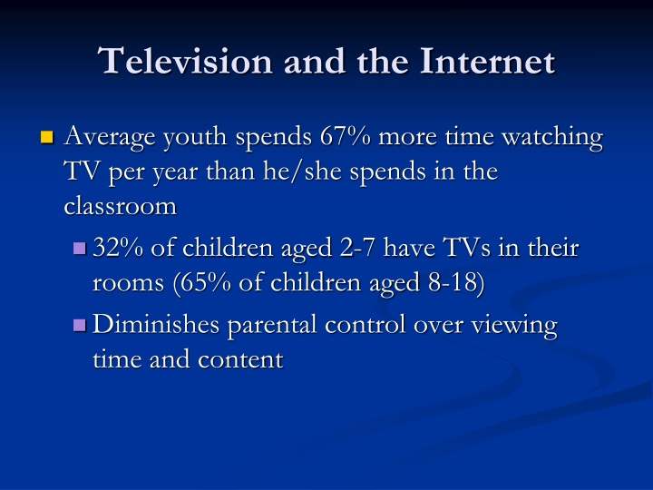 Television and the Internet