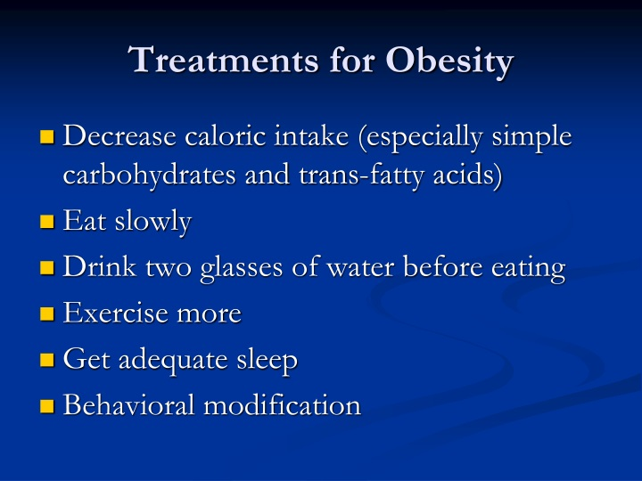 Treatments for Obesity
