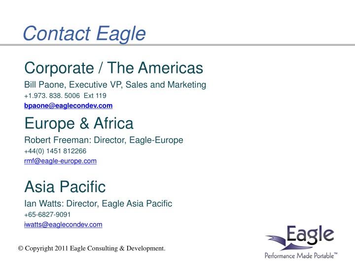 Corporate / The Americas