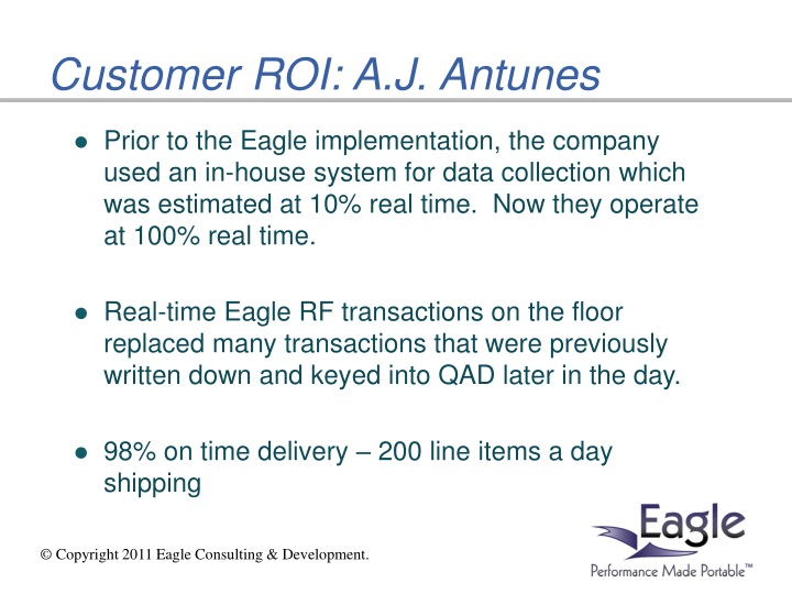 Customer ROI: A.J. Antunes