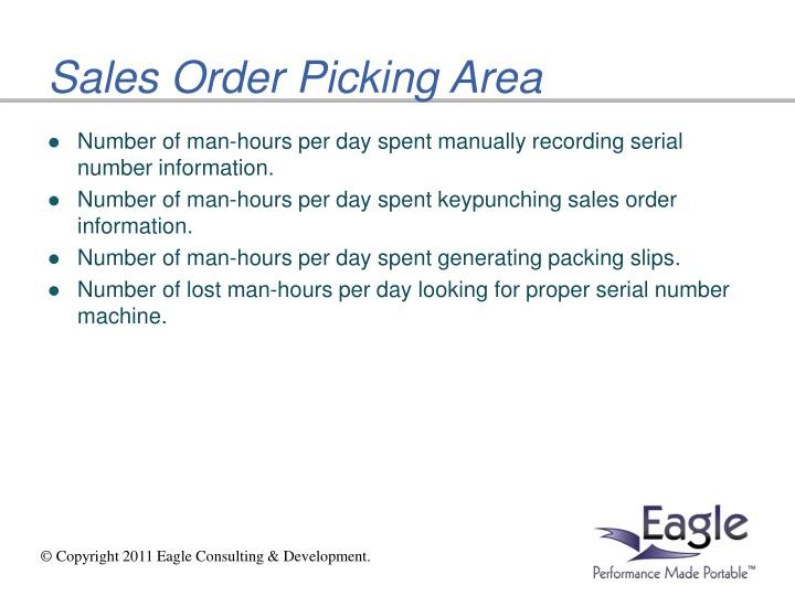 Sales Order Picking Area