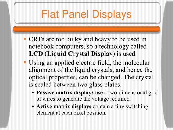 Flat Panel Displays