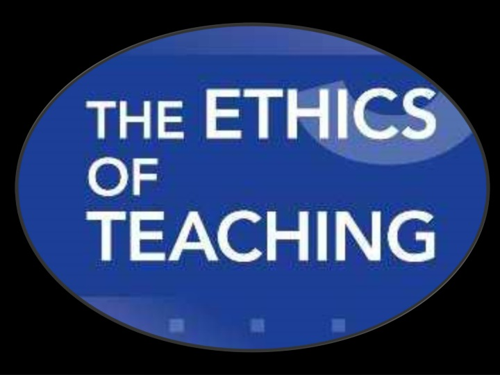 Copy Of Code Ethics For Professional Teachers
