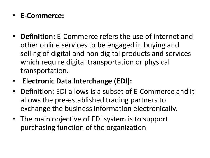 e commerce definition e commerce refers n.