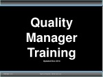 quality manager training updated dec 2014