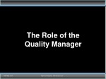 the role of the quality manager