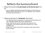 reflects the business brand