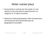 wider market place
