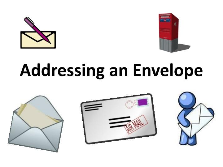 addressing an envelope n.