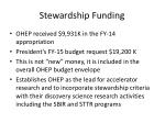 stewardship funding