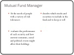 mutual fund manager
