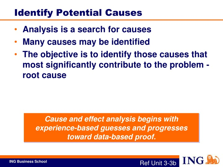 Identify Potential Causes