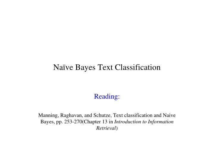 na ve bayes text classification n.