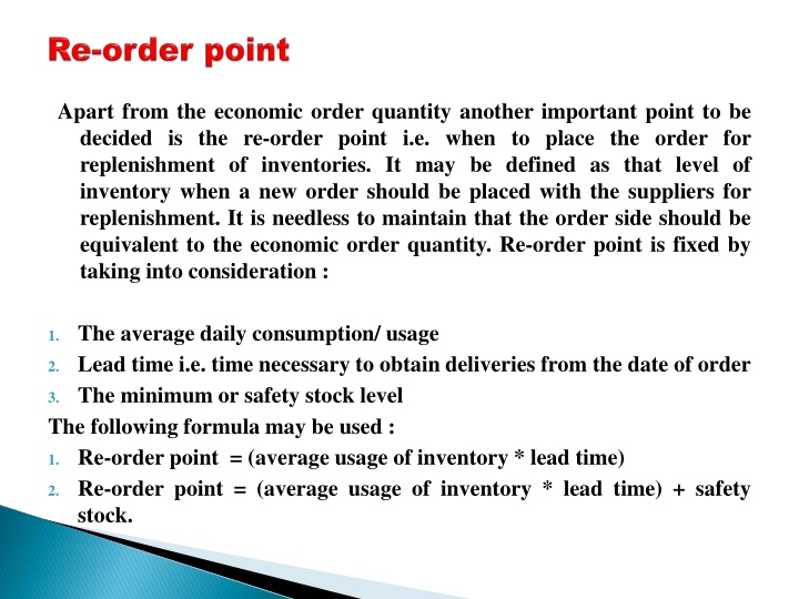 PPT - MANAGEMENT OF INVENTORY PowerPoint Presentation - ID