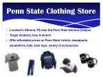 penn state clothing store