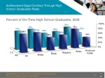 achievement gaps continue through high school graduation rates