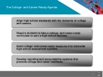 the college and career ready agenda