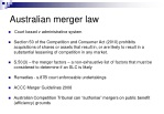 australian merger law