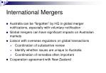 international mergers