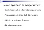 scaled approach to merger review