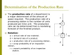 determination of the production rate