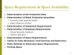space requirements space availability