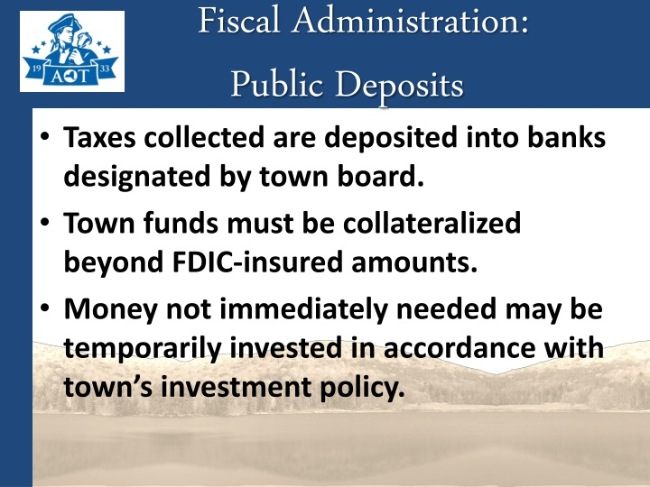 Fiscal Administration: