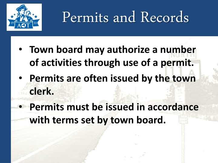 Permits and Records