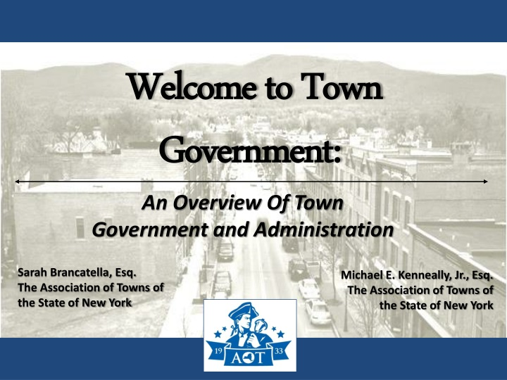 Welcome to town government