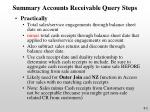 summary accounts receivable query steps