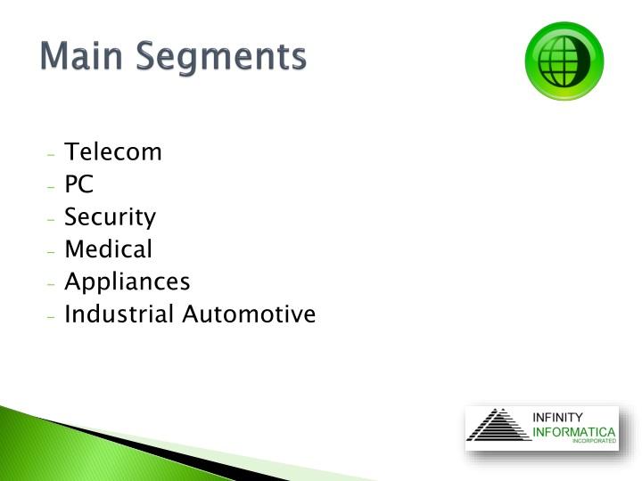 Main Segments