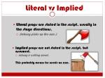literal vs implied