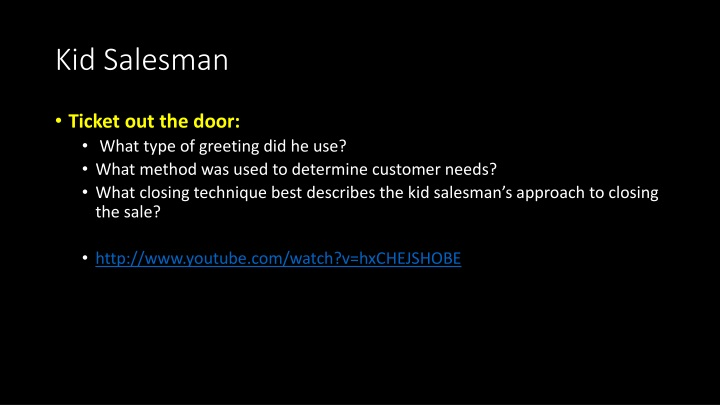 Kid Salesman