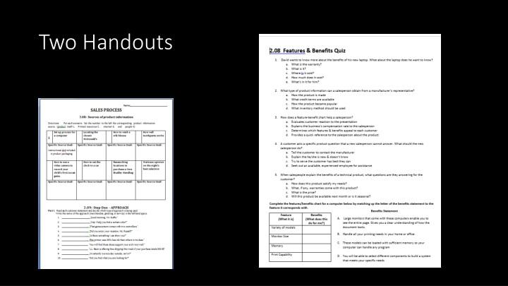 Two handouts