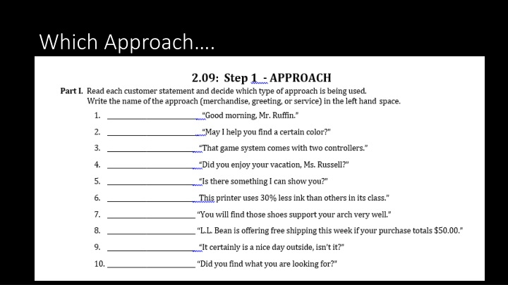 Which Approach….