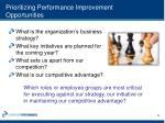 prioritizing performance improvement opportunities