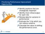 prioritizing performance improvement opportunities1
