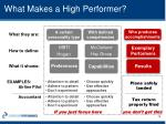 what makes a high performer1