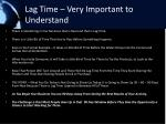 lag time very important to understand