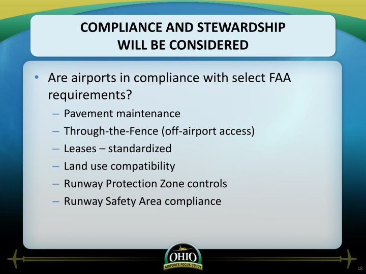 Compliance and stewardship