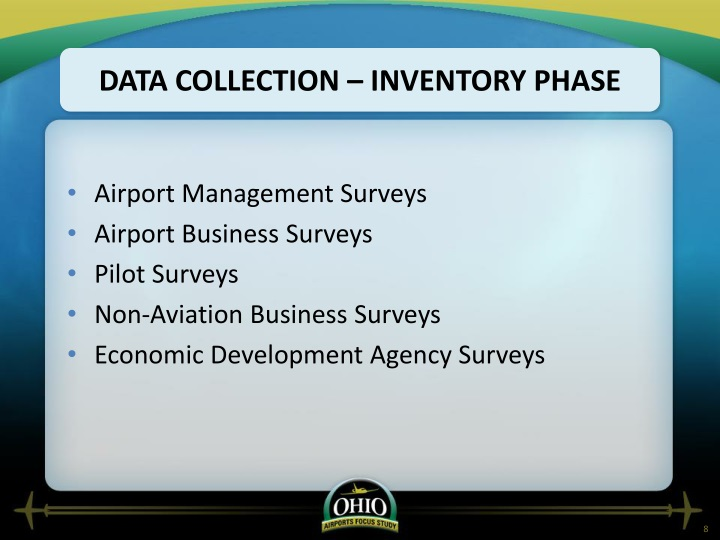 Data Collection – inventory phase