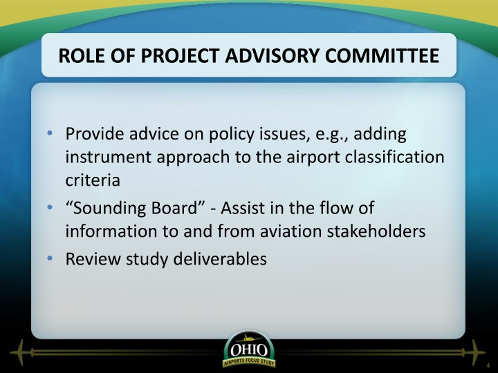 Role of Project Advisory Committee