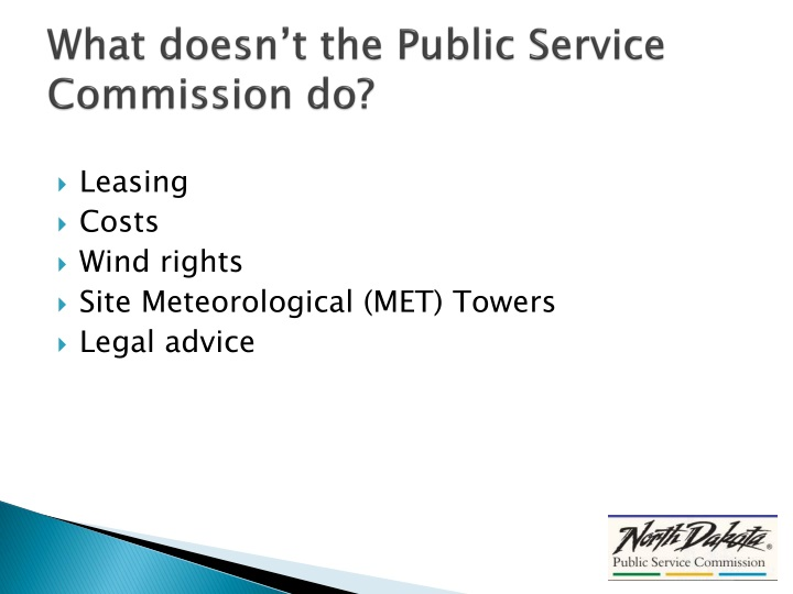What doesn't the Public Service Commission do?