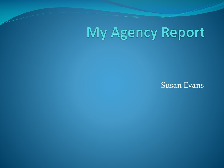 My agency report