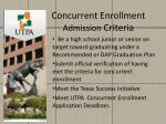 concurrent enrollment admission criteria