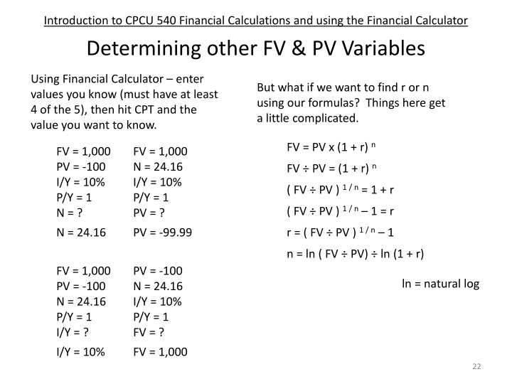 PPT - CPCU 540 – Finance and Accounting for Insurance