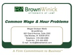 common wage hour problems