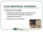 flsa individual coverage